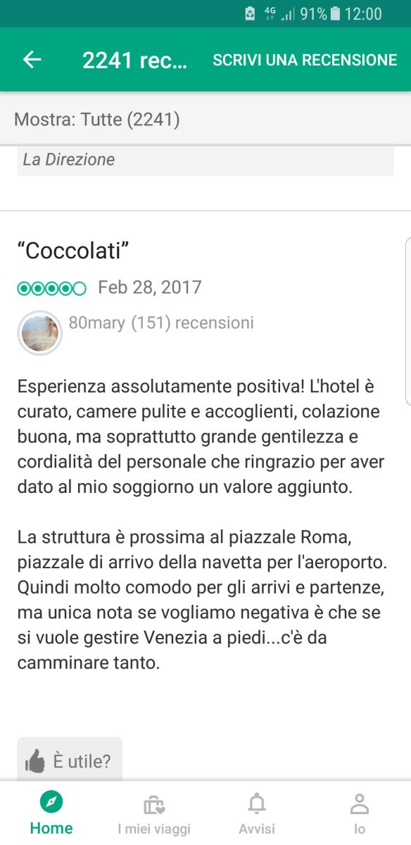 Recensione Hotel Venezia