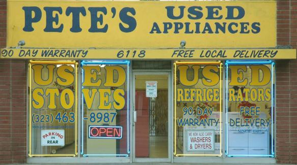 Pete's used appliances